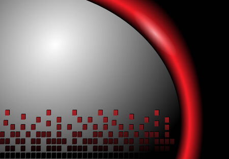 Abstract background grey and red Vector