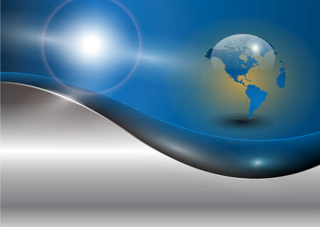 Business background with world globe, EPS10 Vector