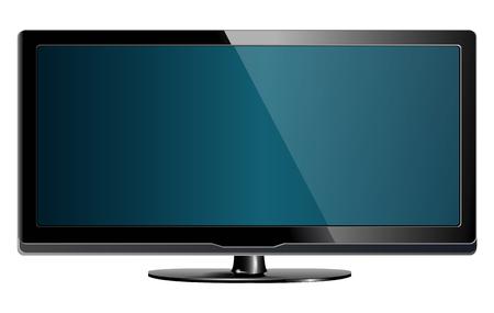 lcd plasma tv, realistic Stock Vector - 6864017