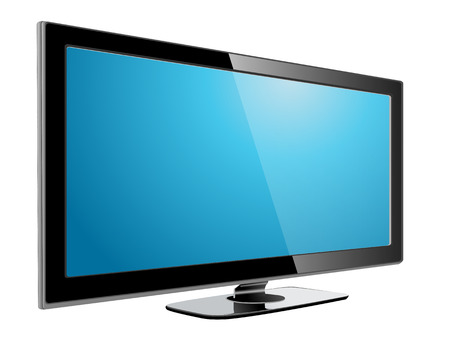 tv monitor: lcd plasma tv, realistic