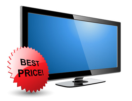 lcd plasma tv, with best price star Stock Vector - 6864021