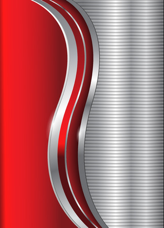 abstract business background red glossy metallic Vector