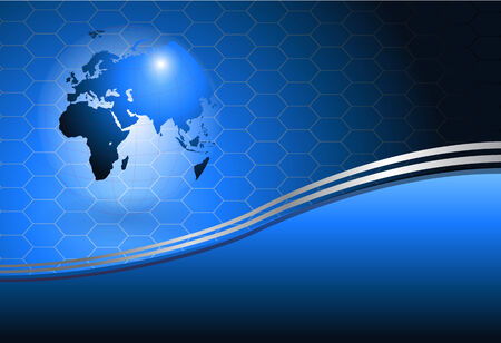Business background with world globe Vector