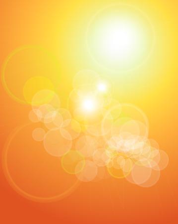 abstracte achtergrond oranje sepia lichten.  Vector Illustratie