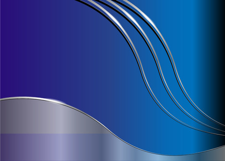 Business background blue and silver Vector