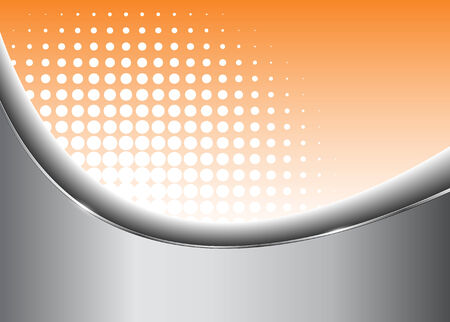 abstract background silver and orange Vector