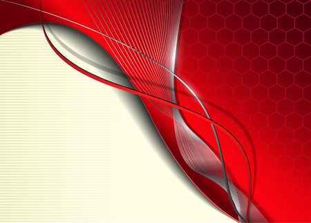 Abstract business background  red metallic Vector