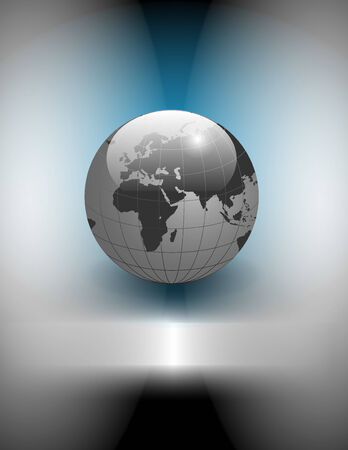 telecomunication: Abstract business background, silver blue with earth globe