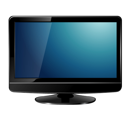 lcd tv monitor, realistic  illustration. Stock Vector - 7080487