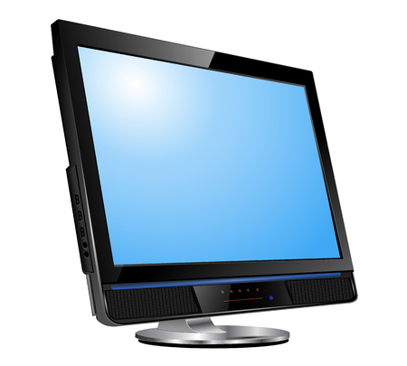 monitore: LCD-tv-Monitor, realistische Abbildung.