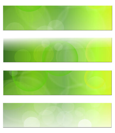 defocused: Banners, headers abstract green