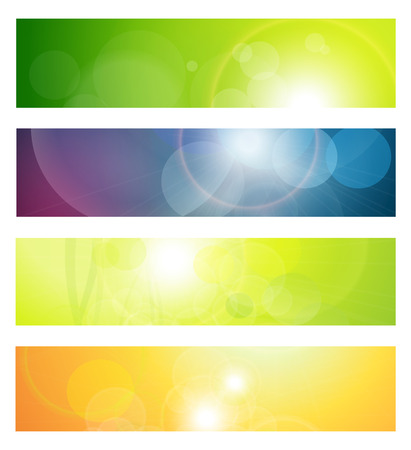 website header: Banners, headers abstract lights