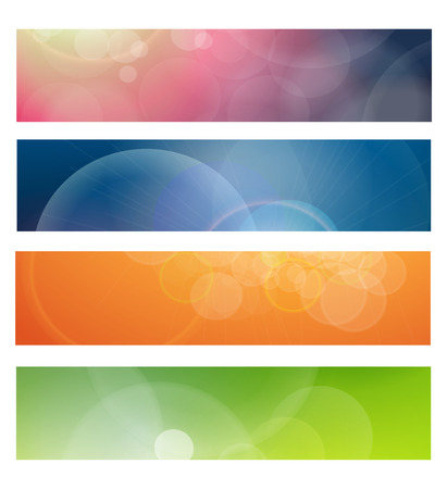 Banners, headers abstract light Stock Vector - 7201438