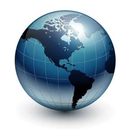 Earth globe, world glossy Stock Vector - 7201447