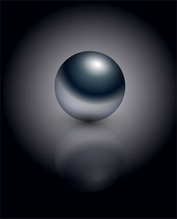 steel balls: Chrome sphere - metallic glossy. Vector.