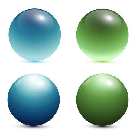 glazen bollen, ballen  Vector Illustratie