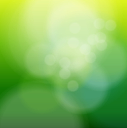 Abstract background green blurry lights. Vector
