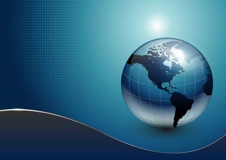 the globe: affari sfondo blu  Vettoriali