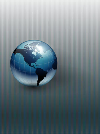 Abstract business background grey with earth globe.  Vector