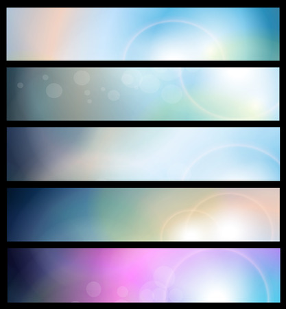 Banners, headers abstract blue lights Vector