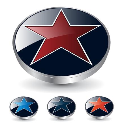 star logo: logo 3d star Illustration