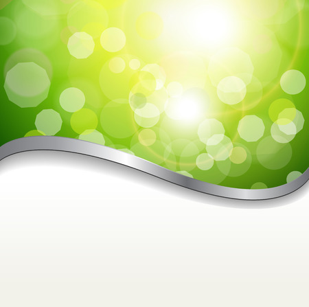 background abstract green lights. Stock Vector - 7392503