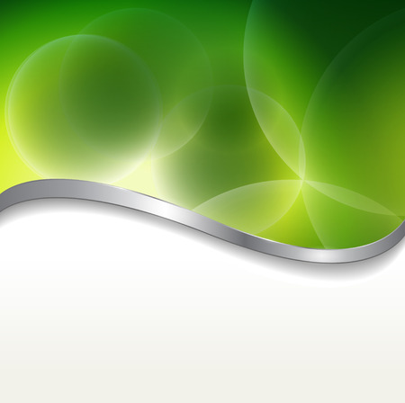 Abstract background  green lights. Stock Vector - 7392600