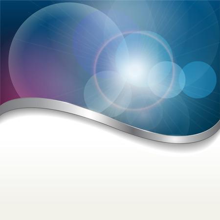 metallic  sun: Abstract background  blue lights. Illustration