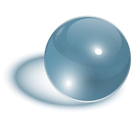 esfera de cristal: esfera de vidrio transparente