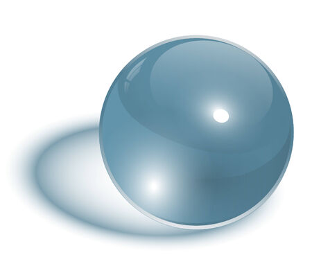 glass sphere transparent Stock Vector - 7392612