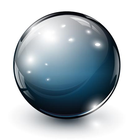 esfera: Esfera de vidro 3D