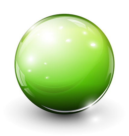 glass sphere: Glass esfera verde
