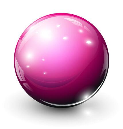 esfera de cristal: Rosa de esfera de cristal  Vectores