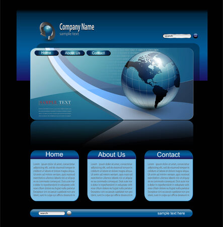 worldwide website: Website template Illustration