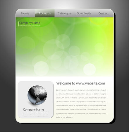 blurry lights: Website template, editable vector