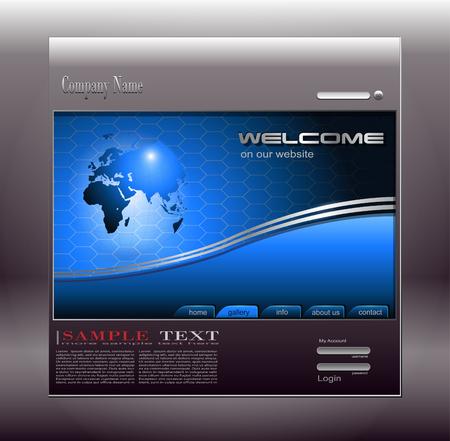Business website template Stock Vector - 7440187