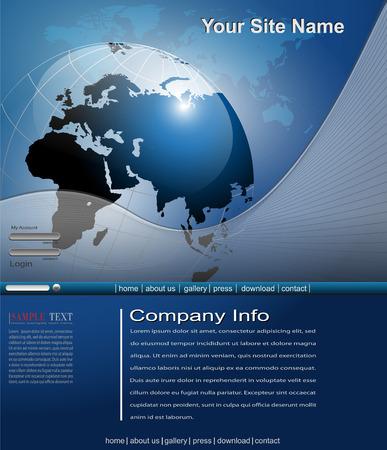 gabarit: Mod�le de site Web des affaires  Illustration
