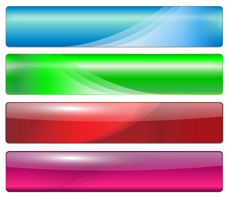 Banners, headers colorful glossy Stock Vector - 7474008