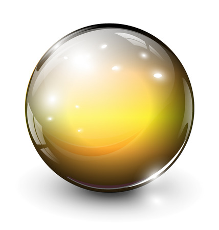 sphere: glass sphere, ball