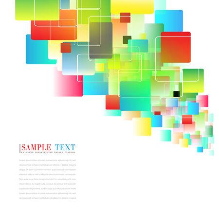 forme carre: Abstract arri�re-plan color� des carr�s  Illustration