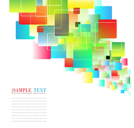 square composition: abstract background colorful squares