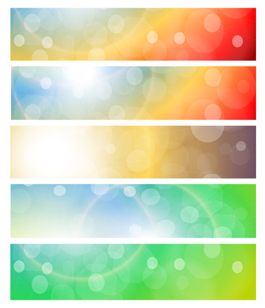 Banners, headers abstract light  Vector