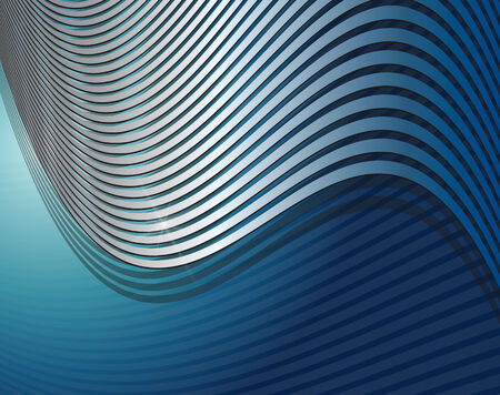 Abstract  background interesting silver lines over blue, vector. Stock Vector - 7525944