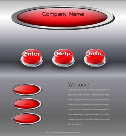 net bar: Website template interesting design