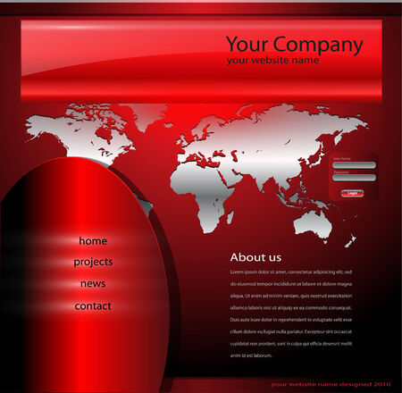 net bar: Website template red