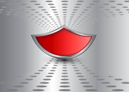 business background, silver with red shield Vector