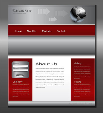 grey: Website template grey red