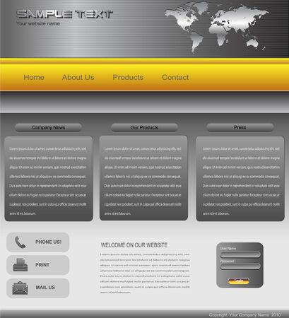 site map: Website template professional design
