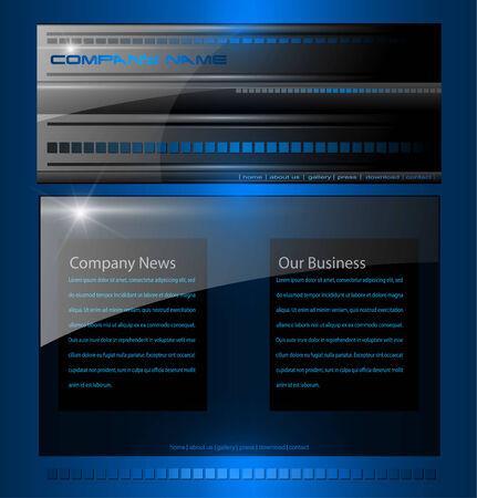 Website template professional design Stock Vector - 7525987