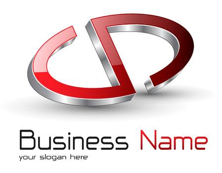 Logo glossy metallic abstract symbol Stock Vector - 7580387